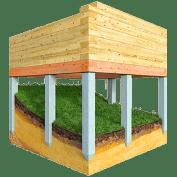 Levná základová deska pro stavby ve svahu